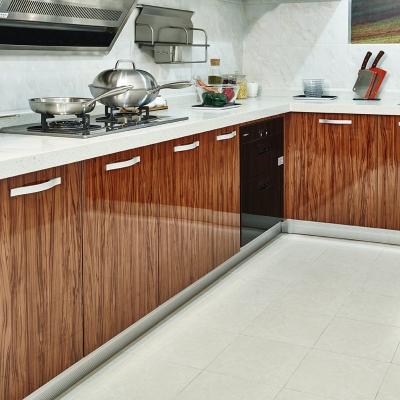简约北欧风格精致工艺厨房储物收纳多门微晶板橱柜地柜