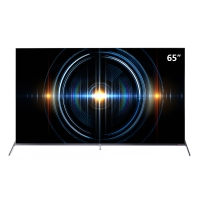 TCL 65C66黑 65英寸 4K超高清電視機 全生態HDR 圓角全面屏 全場景AI