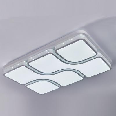 简约淡雅风格长方形异性个性创意温馨客厅LED吸顶灯客厅吊灯