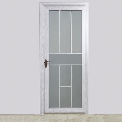 欧洲白橡色双层中空玻璃造型美观铝合金卫生间门