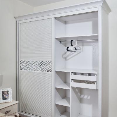 时尚推拉移门组合简欧风格卧室衣帽间多功能储物衣柜