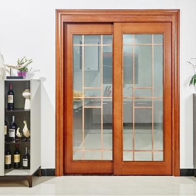 简约北欧风格复合烤漆拼格玻璃隔断室内厨房推拉木门
