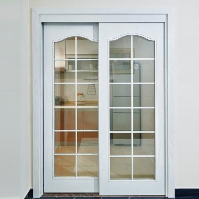 厨房玻璃简欧风格复合烤漆美观百搭双滑推拉门