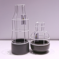 现代中式白铁艺花瓶摆件艺术装饰家居饰品镂空花器摆件工艺装饰