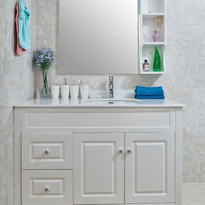 款式简约大方时尚百搭简欧风格浴室柜 (含镜)
