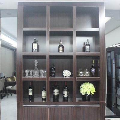 收纳方便稳固存储简约现代客厅多层实木酒柜酒架柜子展示柜