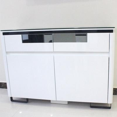 现代简约餐边柜餐厅家具储物柜白色烤漆边柜碗柜茶水柜