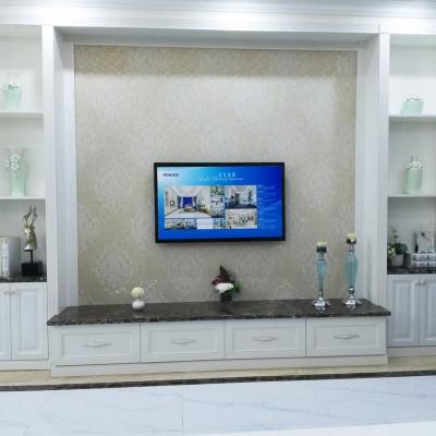 客厅家具简约大气时尚美观欧式大理石面白色烤漆电视柜