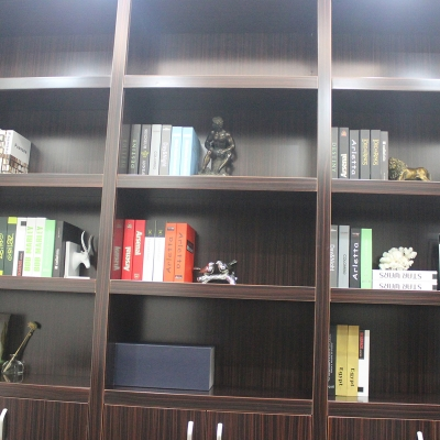 书房家具多层实木黑壇色书柜储物柜饰品展示收纳柜陈列柜置物柜
