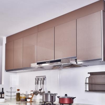 厨房大容量定制实用简约淡雅风格微晶板橱柜吊柜