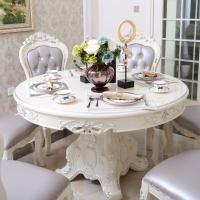 歐式餐桌簡約現代圓桌