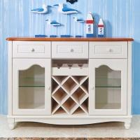 地中海餐邊柜茶水柜簡易櫥柜簡約儲物柜地中海碗柜