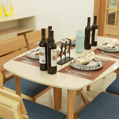 北欧餐桌现代简约4人6人一桌四椅小户型餐桌
