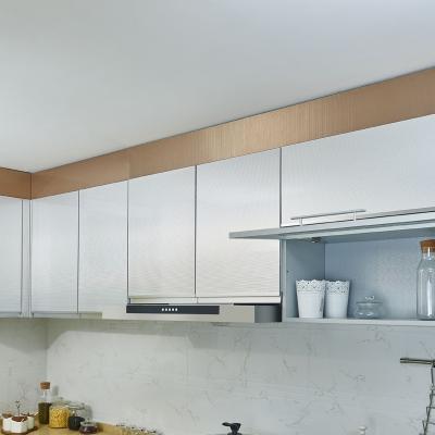 厨房高端定制实用防潮简欧风格金属UV门板橱柜吊柜