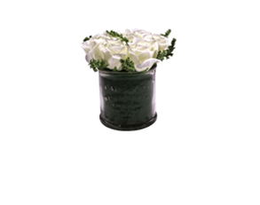 客厅经典 仿真花套装 玻璃盆绢布假花盆栽花艺摆件花瓶餐桌摆设花