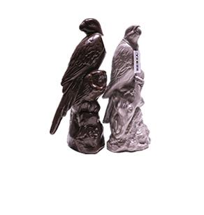 家居饰品工艺品 鹦鹉陶瓷摆件 欧式样板房动物陈设 茶几饰品